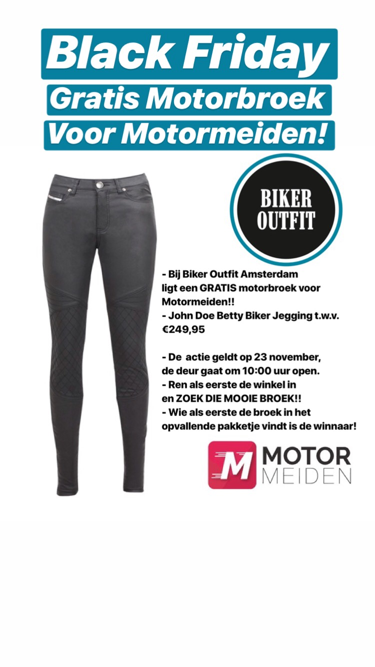 Black Friday Motormeiden Bikeroutfit